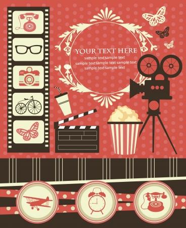 foto: vintage objects scrapbook collection illustration Illustration
