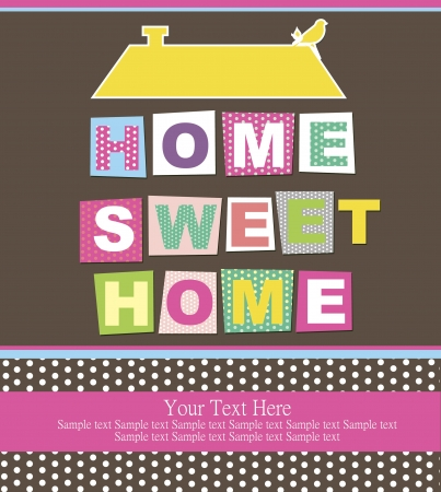 house keys: home sweet home card illustration