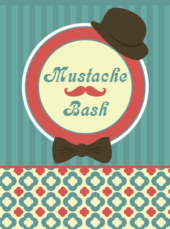 card with mustache  vector illustration Vector