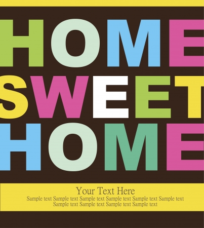 home sweet home: home sweet home card   illustration