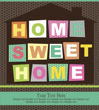 home sweet home card  vector illustration Stock Vector - 20483149