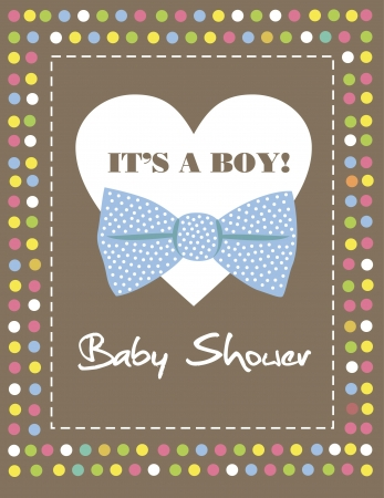 baby boy shower  vector illustration Vector