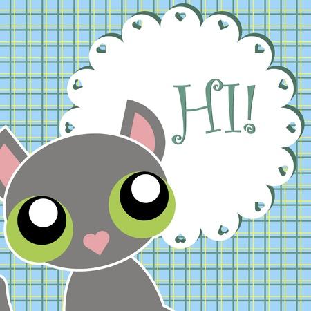 greeting baby card  vector illustration