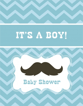 baby shower party: baby boy shower  vector illustration