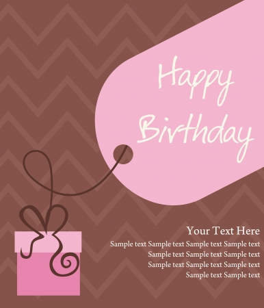 happy girls: happy birthday greeting card illustration