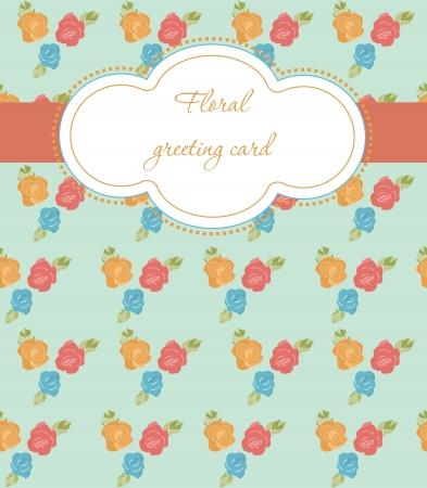floral card design illustration Vector