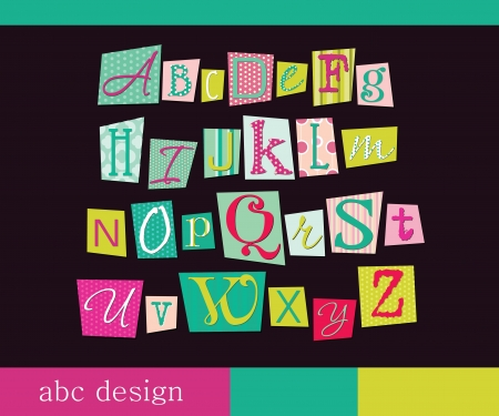 alphabet design  illustration