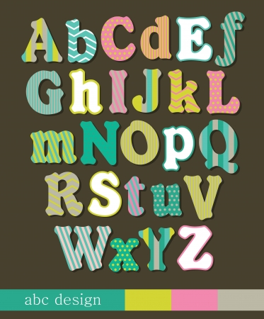 alphabet design  illustration Vector