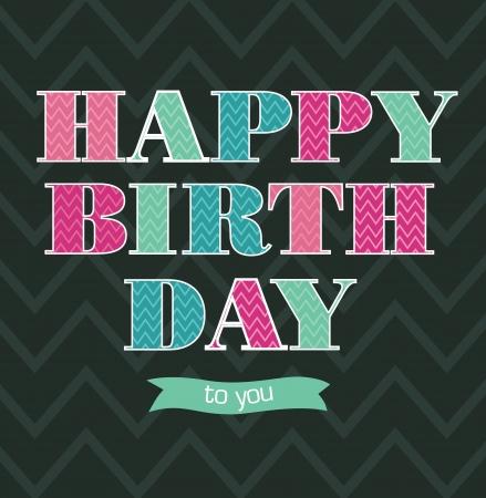 happy birthday card design   illustration