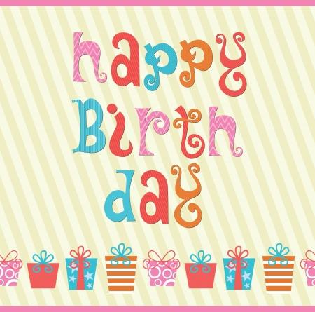 birth day: happy birthday card design  illustration