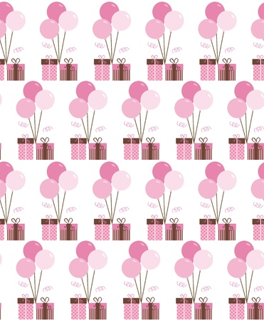 seamless birthday pattern design   illustration Vector