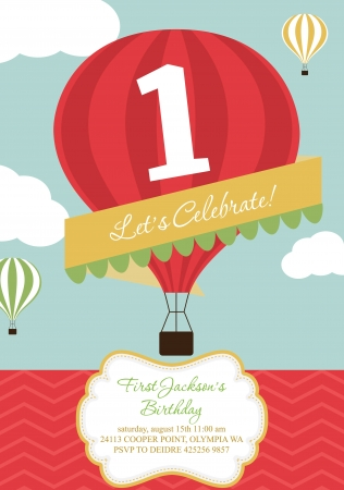 conception de carte de ballon � air de joyeux anniversaire
