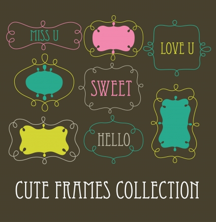 cute frames collection   Illustration