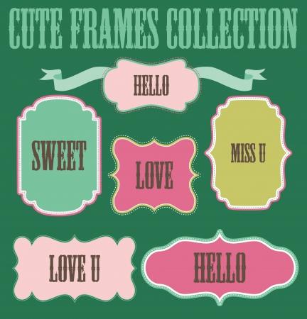 cute frames collection   Vector