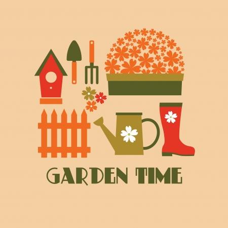 I love my garden card design   Vector