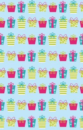 birthday presents: seamless birthday pattern design   Illustration