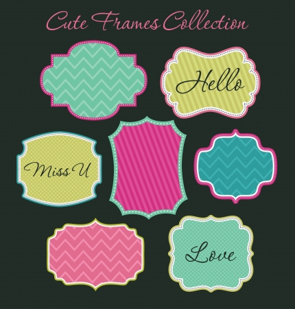 scrapbook cover: cute frames collection