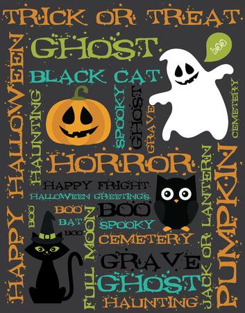 halloween card design. vector illustration