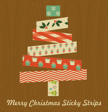 merry christmas sticky strips design. vector illustration Vector