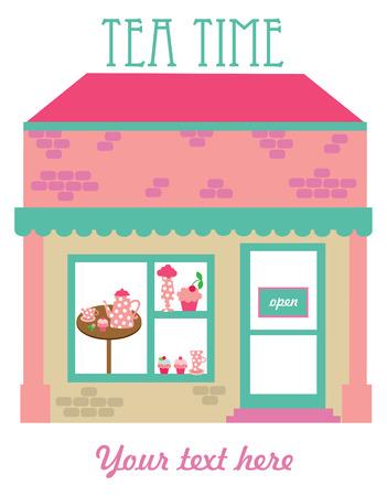 tea time card design. vector illustration Vector
