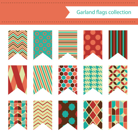 garland flags collection. vector illustration Vector