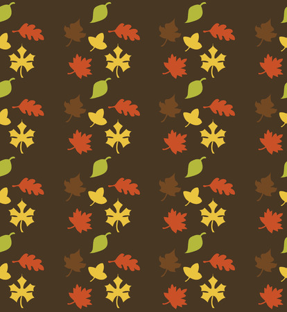 seamless autumn pattern design. vector illustration Vector
