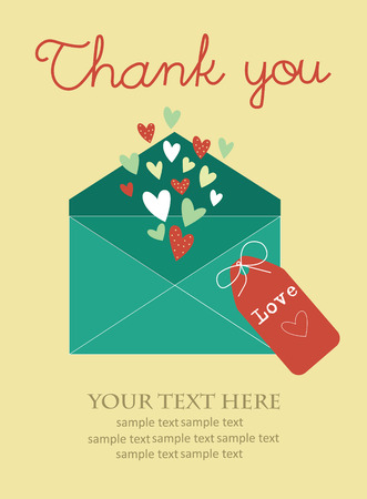 thank you card design. vector illustration Vector