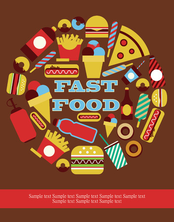 fast food card design. vector illustration
