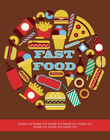fast food kaart ontwerp. vector illustratie