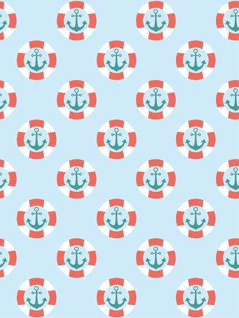 nautical pattern: sea seamless pattern design. vector illustration