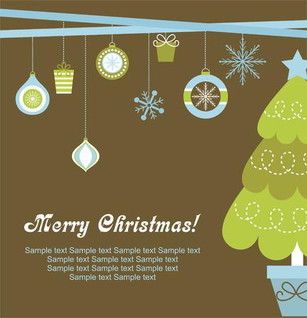 estrellas de navidad: diseño de la tarjeta de Navidad. ilustración vectorial