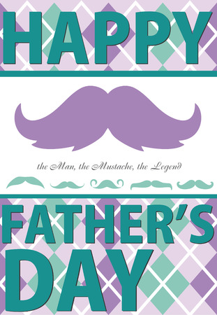 bash: fathers day card design. vector illustration