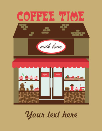 abstract mill: coffee time card design. vector illustration