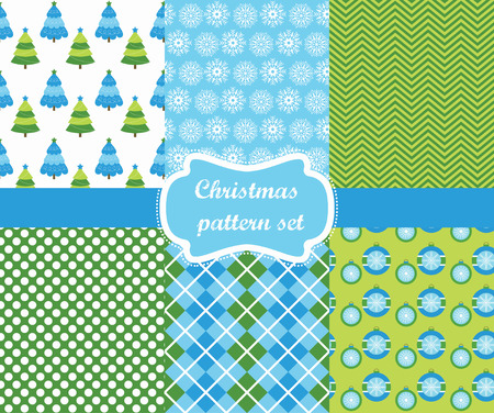 christmas pattern set. vector illustration Vector