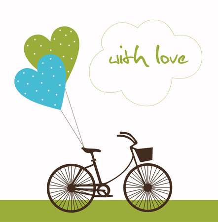 love message: love card design. vector illustration