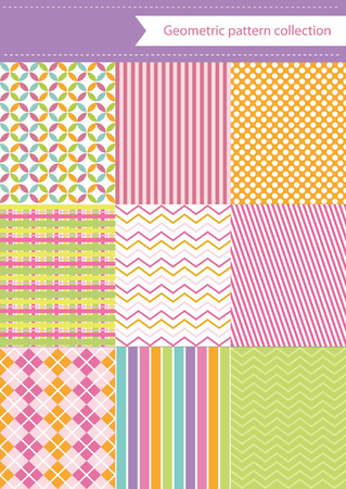 cute geometric pattern design. vector illustration Vector