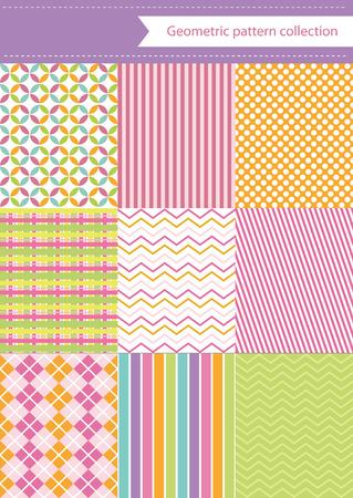 cute geometric pattern design. vector illustration