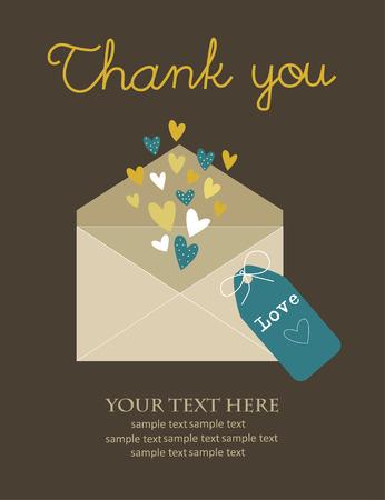 thank you card design. vector illustration Vector