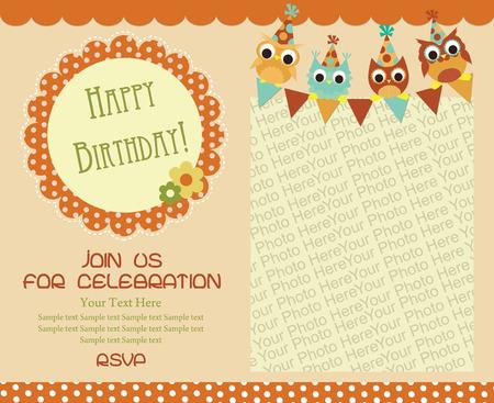 Happy birthday invitation card design vector illustration royalty happy birthday invitation card design vector illustration stock vector 26905973 filmwisefo