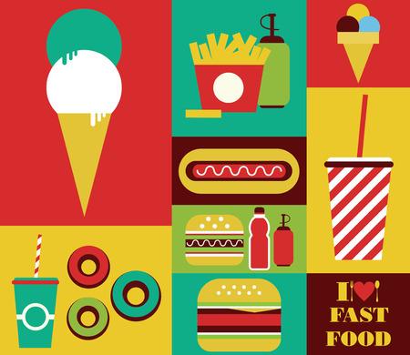 cheeseburger: fast food card design. vector illustration Illustration