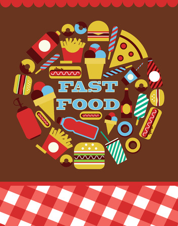 fast food card design. vector illustration Vector