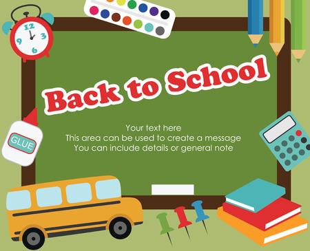 back to school card design. vector illustration