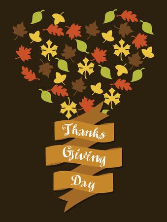thanksgiving card design. vector illustration Illustration