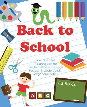 back to school card design. vector illustration Vector