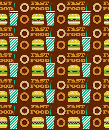 fast food seamless pattern design. vector illustration Vector