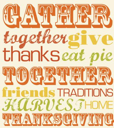 fiesta familiar: dise�o de tarjetas de agradecimiento. ilustraci�n vectorial Vectores