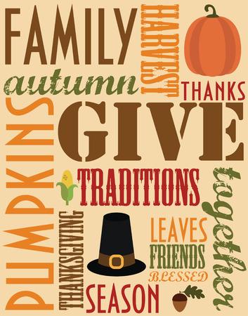 thanksgiving card design. vector illustration Vector