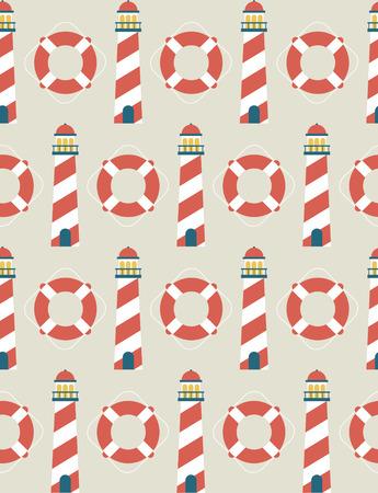 ahoy: seamless sea pattern design. vector illustration Illustration