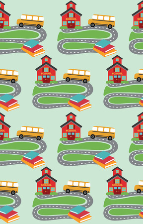 school pattern design. vector illustration Vector