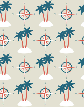 seamless sea pattern design. vector illustration Vector